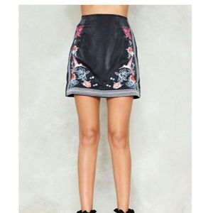 NWT Embroidered Mini Skirt